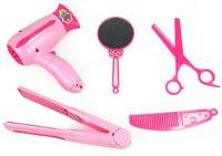Новое поступление 5 шт./компл. малыш играть дома игрушки стрижка фен зеркало расческа ножницы волос Шинная макияж комплект