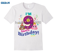 GILDAN Poop Emoji Happy 9th Birthday Shirt Kids Girls GiftChina