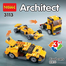 DECOOL 3113 City Creator 3 in 1 Cool Cars Sports car Truck Building Blocks Kids Toys Compatible Legoings