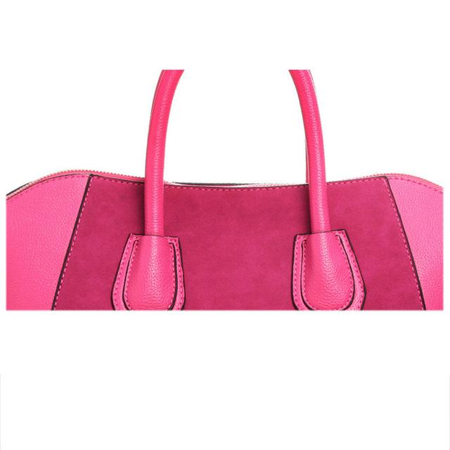 Hot Sale! Bag fashion bags 2016 patchwork nubuck leather women's handbag smiley shoulder bags