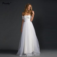 Sexy Off Shoulder Ball Gown Beach Dress 2017 Sweetheart Lace Long Bride Dresses Gowns Plus Size