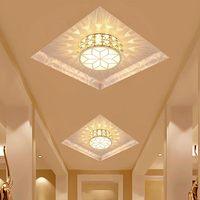 5W Modern Corridor Ceiling Lamp Aisle Veranda Lighting Down Crystal Recessed Mounted LED Ceiling Lights Living Room Bedroom