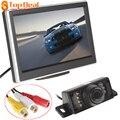 Nova Chegada 5 Polegada TFT-LCD Do Painel HD Color Car Rear View Monitor com 7 Luzes IR Câmera de Visão Traseira Do Carro