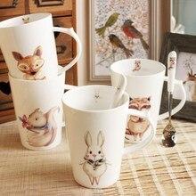 Nordic Nette abteilung tiere keramiktassen kreative tassen bone china milch kaffee paar Tasse