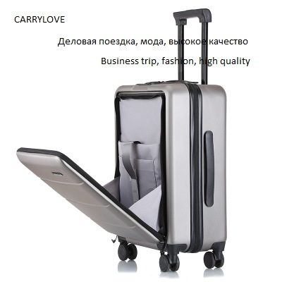 CARRYLOVE Business trip fashion high quality18 20 22 24 28 inch size PVC Luggage Spinner brand
