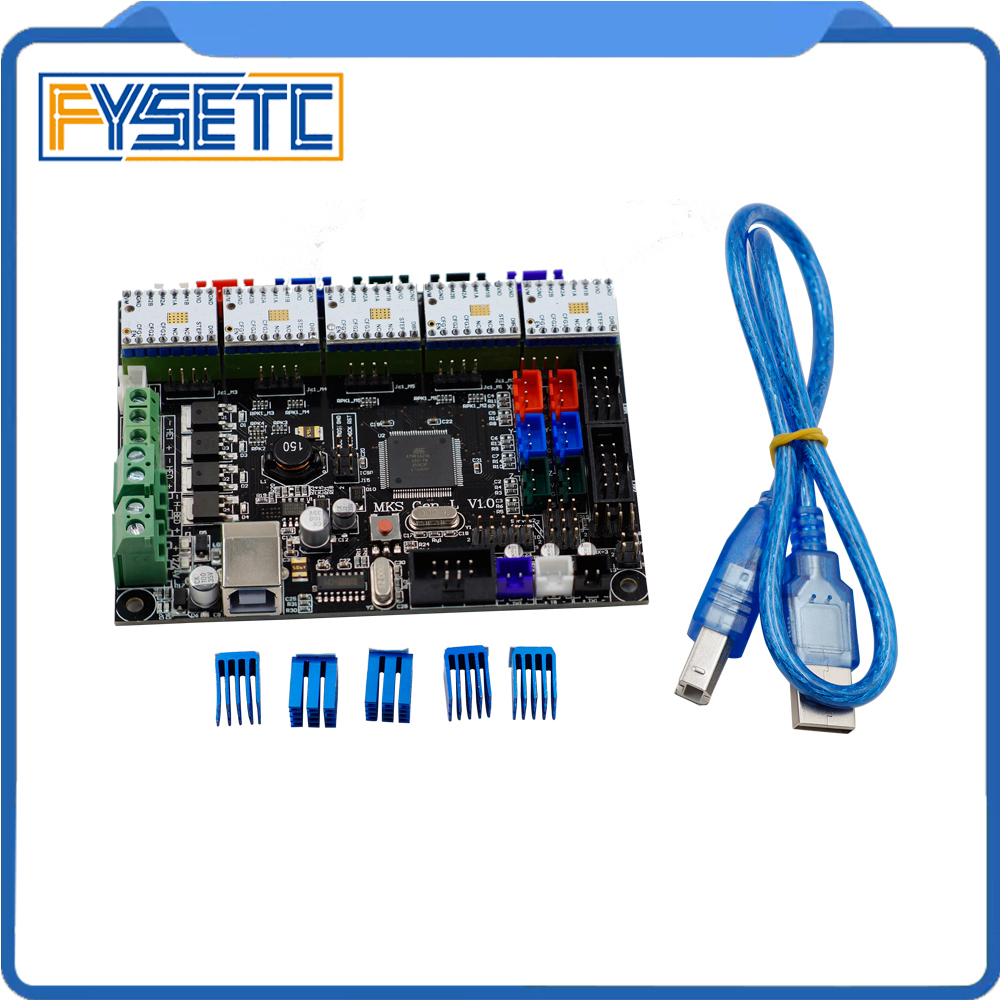 MKS Gen-L V1.0 Integrated Mainboard MKS Gen L V1.0 With 5pcs TMC2100 V1.3 Stepper Drivers For Tarantula & Tornado 3D Printer 5pcs lot isl6315crz 63 15crz two phase multiphase buck pwm controller with mosfet drivers integrated no droop
