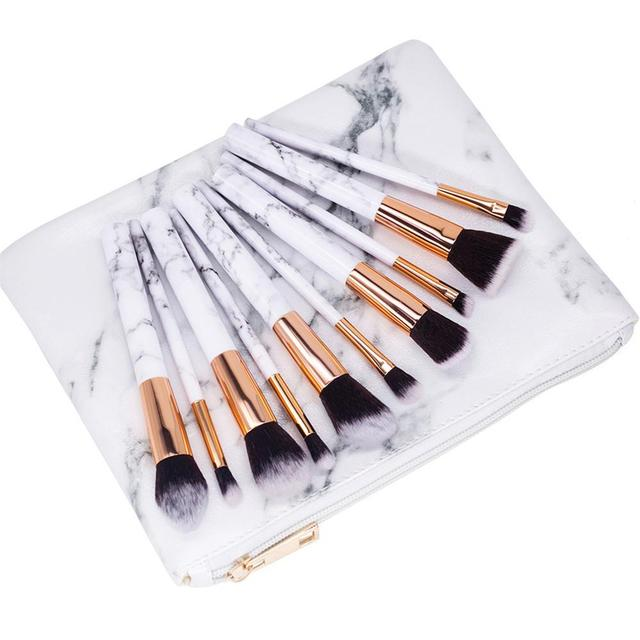 0a4dc9461b Cosmetic Bag Make Up Marble Portable Ladies Travel Case Makeup Brushes  Organizer Storage Women Men Toiletry