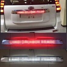 Auto Chrome LED Stamm Deckel Abdeckung Bremsen Licht Fahr Licht Für Toyota Prado 150 Land Cruiser Prado FJ150 2018 Zubehör