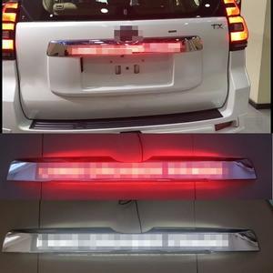 Image 1 - Car Chrome LED Trunk Lid Cover Braking Light Driving Light For Toyota Prado 150 Land Cruiser Prado FJ150  2018 Accessories