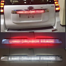 자동차 크롬 LED 트렁크 뚜껑 커버 도요타 프라도 150 랜드 크루저 프라도 FJ150 2018 액세서리에 대한 빛을 운전 제동