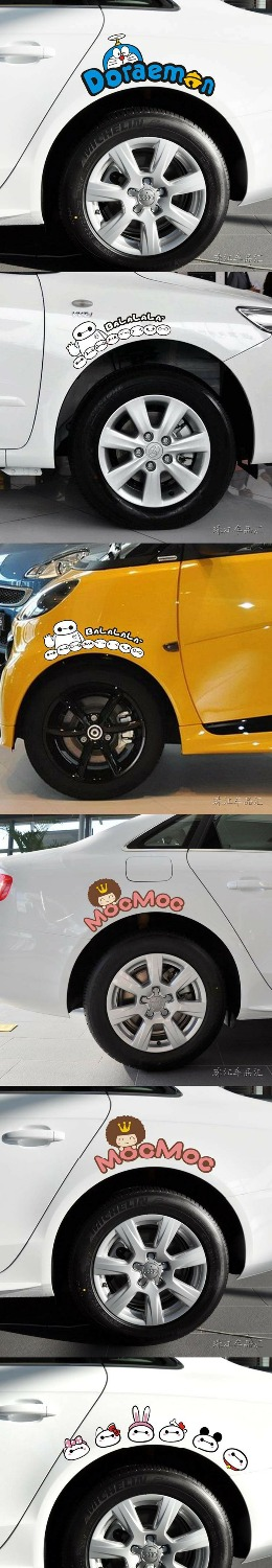 Image 5 - Pink Cartoon KitCar Stickers And Decals For Door Mirror Window Body Interior OCT 40-in Car Stickers from Automobiles & Motorcycles