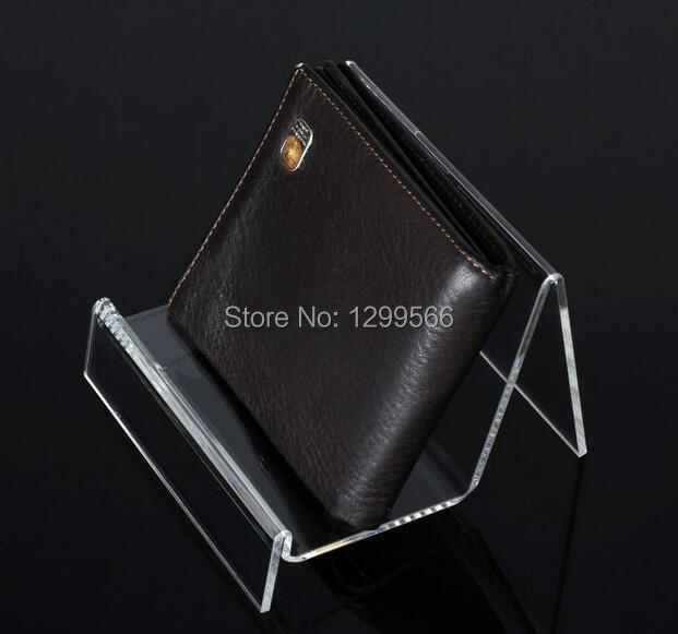 ff9c799c0679 10pcs Single layer clear acrylic wallet display stand cell phone jewelry purse  display stand holder rack free shipping
