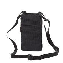 Открытый 3 карманы 2 молнии Универсальный телефон чехол бумажник Зажим для ремня сумка для Samsung Galaxy S7 S6 край S5 S4 S3 Примечание 7 5 4 3 Чехол