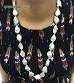 Для любой одежды Элегантный темперамент Нерегулярные природный жемчуг ожерелье больше стиль white pearl и Роуз позолоченные бусы мотаться