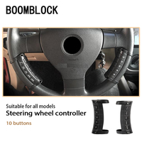1set Universal Auto Car Steering Wheel GPS DVD Music Navigation Remote Control 10 button For Android Windows Ce System Player