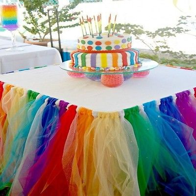 Various color tulle table skirts handmade 100 polyester banquet various color tulle table skirts handmade 100 polyester banquet buffet baby shower wedding party table skirt in table skirts from home garden on watchthetrailerfo