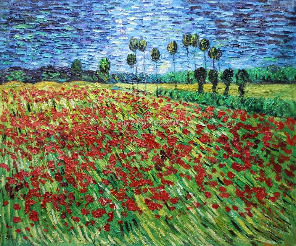 Vincent van gogh poppy flower painting mightylinksfo