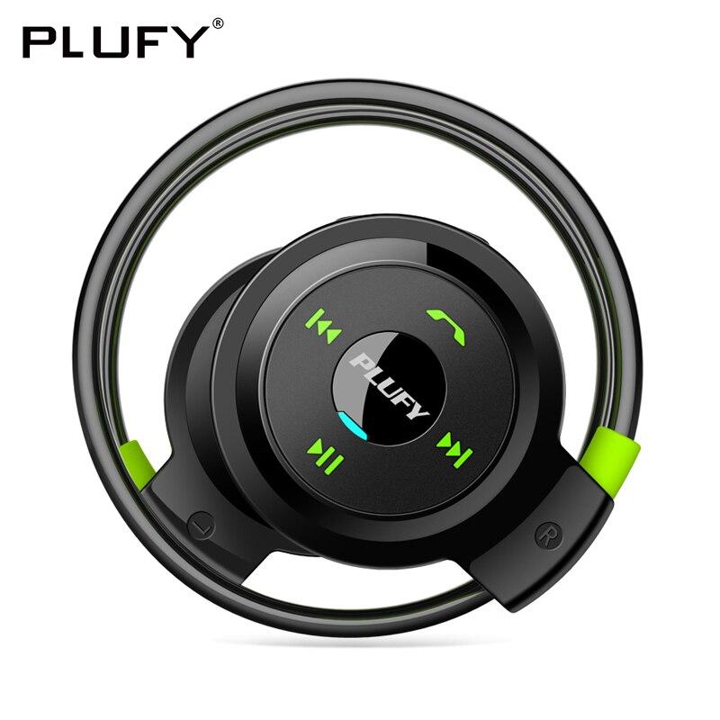 PLUFY Bluetooth Sport Casque Sans Fil Casque Écouteurs Fonctionnant Ecouteur Sans Fil Bluetooth Casque écouteur Radio MP3