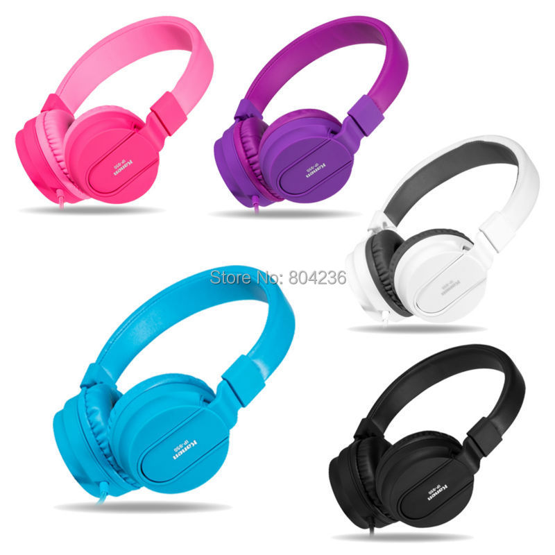 kanen ip950 DJ Style Stereo Kids Boys Girls Headphones Foldable Adjustable with Microphone for iPhone iPod