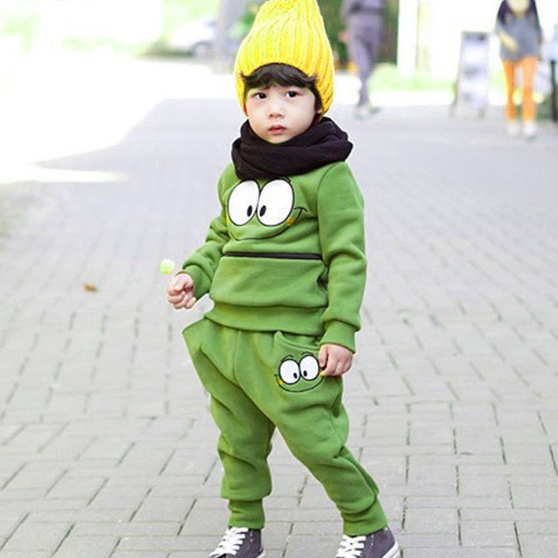 2PCS-Baby-Kids-Smiling-Face-Hooded-Hoodie-Suit-Cotton-Fleeces-Tracksuit-for-BoysGirls-Top-Pants-FJ88-1