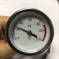 0-120 градусов по Цельсию циферблат бак термометр водонагреватель Температура тестер капиллярный датчик с медным зонд 20% off