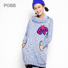 PASS 2017 New Arrival Spring Women Bow Fashion High Quality Casual Pocket Number Cartoon Pattern Female Dress
