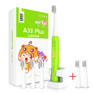 Image 2 - LANSUNG Child Eectric Toothbrush With 8 Heads Sonic Toothbrush Kids 3C Ultrasonic Tooth Brush Rechargeable 220V