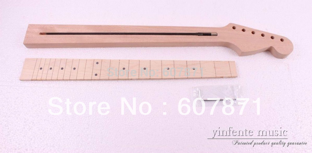 1 pcs Unfinished electric guitar neck High quality Mahogany maple fingerboard high quality custom shop lp jazz hollow body electric guitar vibrato system rosewood fingerboard mahogany body guitar