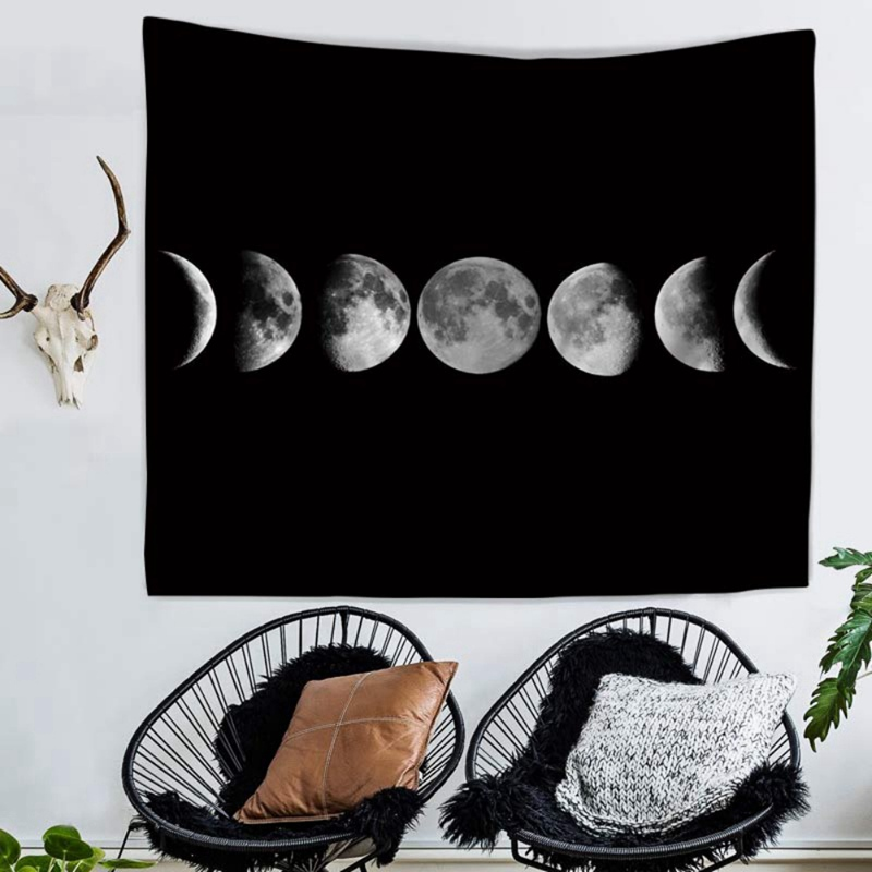 2019 Moon Tapestry Wall Hanging Picnic Throw Rug Blanket Camping Tent Sleeping Yoga Mat Tapestries Beach Towel Dorm Wall Decor