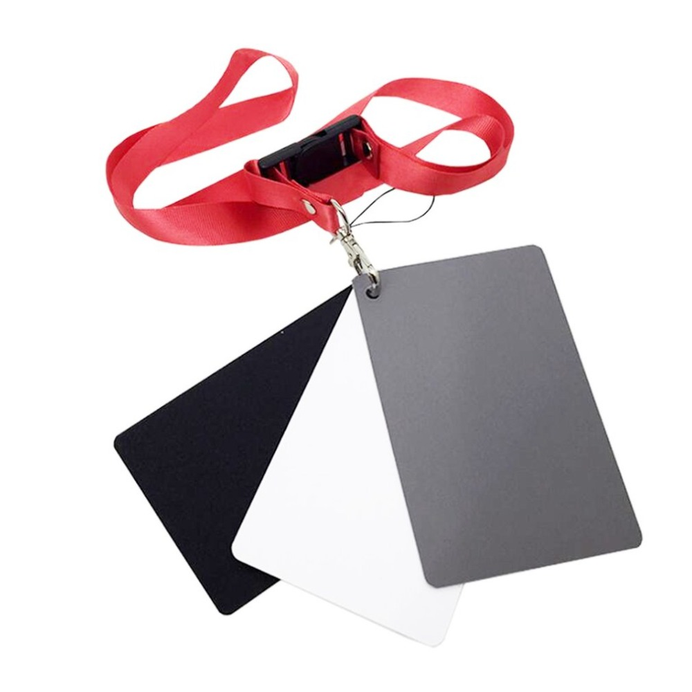 Card Black White with Neck-Strap Photography-Accessories for Digital-Cameras Gray 3-In-1