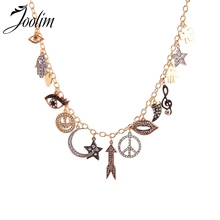 Joolim Hip Hop Moon Star Hand Statement Collar Necklace Stylish