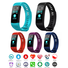 цена на Sport Smart Bracelet Color Screen Y5 Smart Band Wristband Heart Rate Monitor Fitness Bluetooth Blood Pressure Monitor Smartband