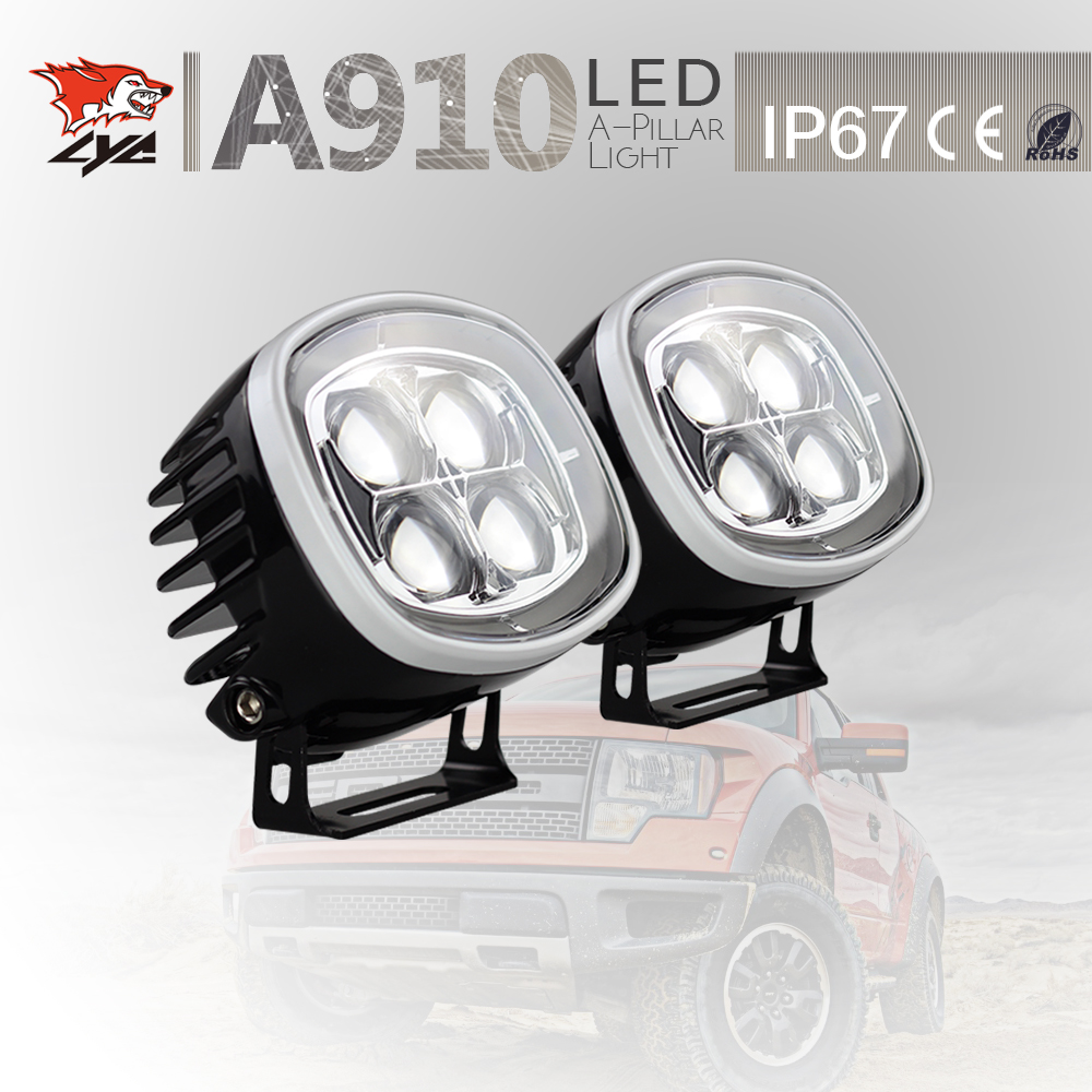 LYC Led day lights For Jeep Extra Lights Amber Car Led Lights 2500LM Spot /Flood Lamp IP67  Waterproof Headlight 12V For Toyota