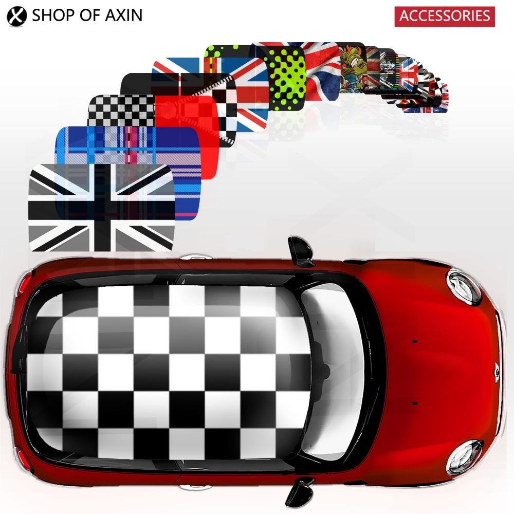 Classic full whole cover roof Graphics stickers decal for MINI Cooper clubman countryman hardtop R50 R53 R55 R56 R60 F55 F56