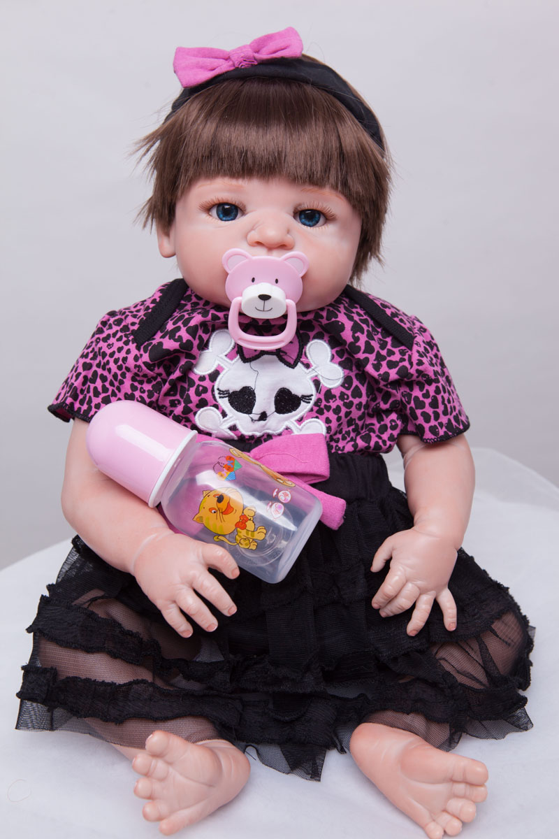 55cm Full body silicone reborn baby doll toys baby-reborn dolls bathe toy kids child brithday gift girls brinquedos Christmas pr 55cm full body silicone reborn baby doll toys baby reborn dolls bathe toy kids child brithday gift girls brinquedos christmas pr