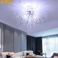 NANS Modern Imitation crystal acrylic Led ceiling lights restaurant ktv aisle living room balcony lamp for home decoration