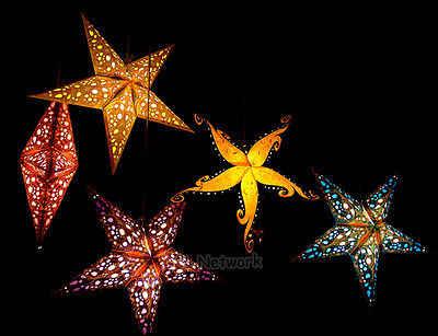 Для рождественской вечеринки звезды висят пентаграмма лампа Тенты Украшения елка Золото Синий Зеленый дом падение Декор Аксессуары