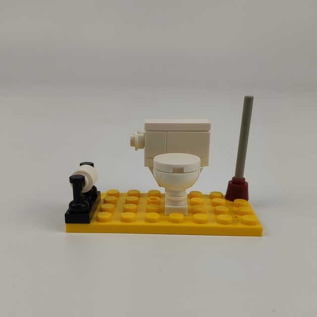 Блокировка блоков создатель города MOC домашний туалет набор продажа строительные блоки игрушки для детей сборный создатель города блок частей