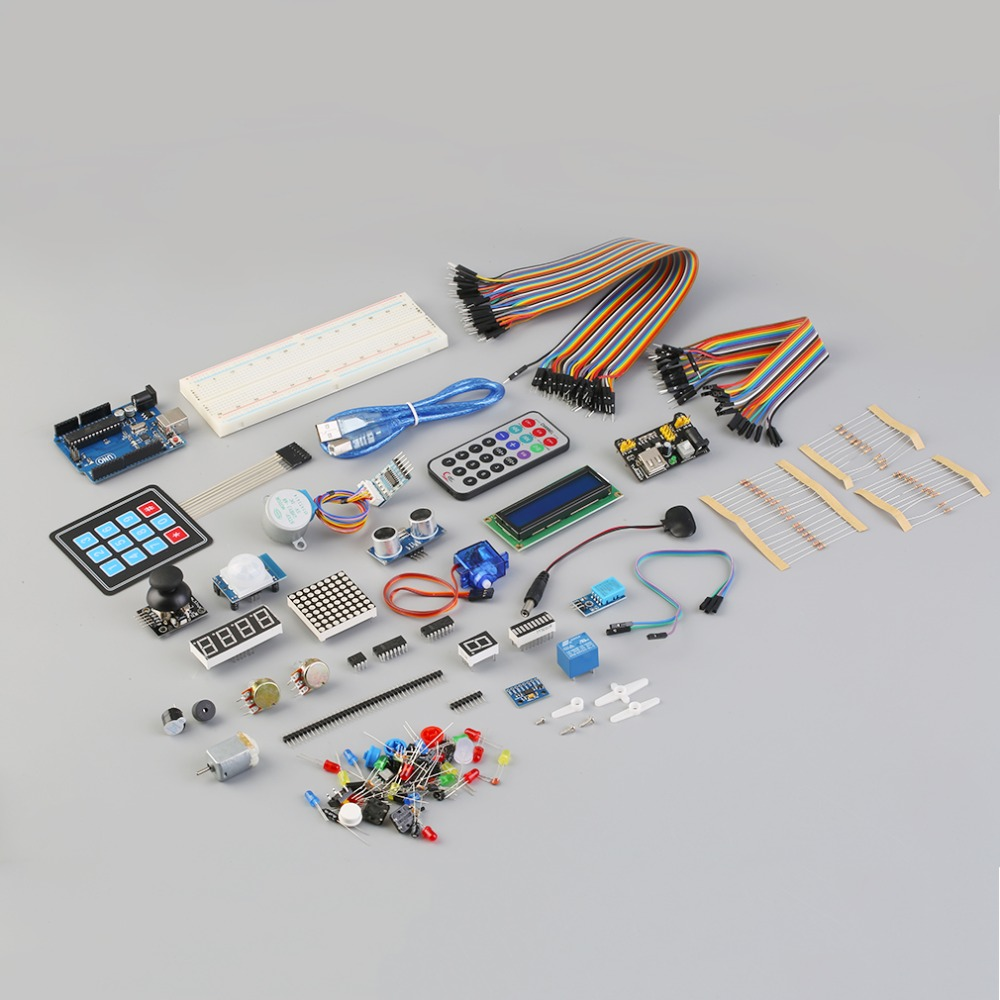 ФОТО New Arrival Upgraded Version Learn Module Kit Set LCD 1602 for Arduino UNO R3 With Box