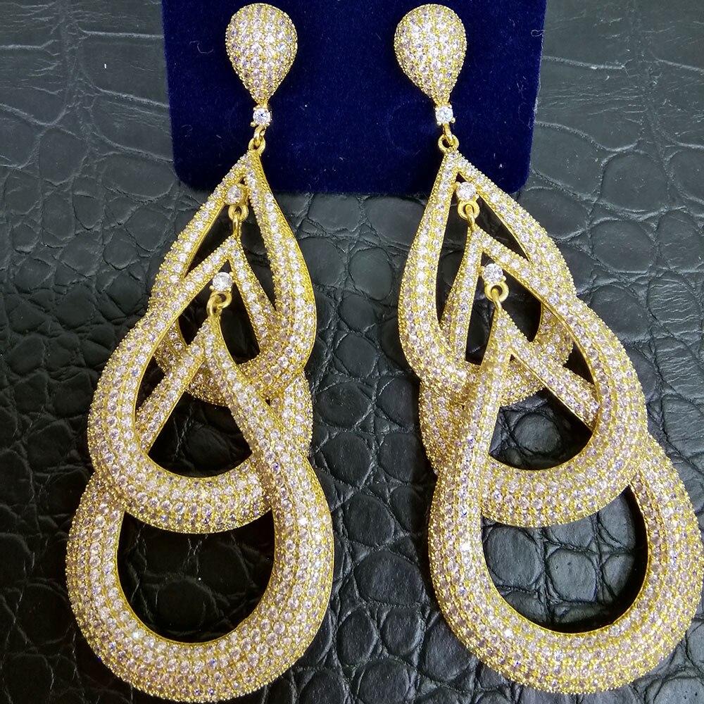 GODKI 81mm Luxury Waterdrop Dangle Earrings For Women Wedding Cubic Zircon Crystal CZ Dubai Bridal Earring Fashion Jewelry 2019GODKI 81mm Luxury Waterdrop Dangle Earrings For Women Wedding Cubic Zircon Crystal CZ Dubai Bridal Earring Fashion Jewelry 2019
