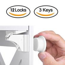 12+3Pcs Magnetic Children Lock Baby Safety Baby Protection Cabinet Door Lock Kids Drawer Locker Security Invisible Locks 10pc lot multifunctional telescopic adjustable safety lock the door safety lock drawer locker toilet locker