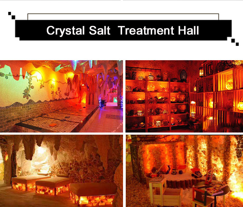 KHLITEC Triangle USB Salt Lamp Hand Carved Purifier Night Light Wooden Base Himalayan Colorful Crystal Rock Lamp Light5