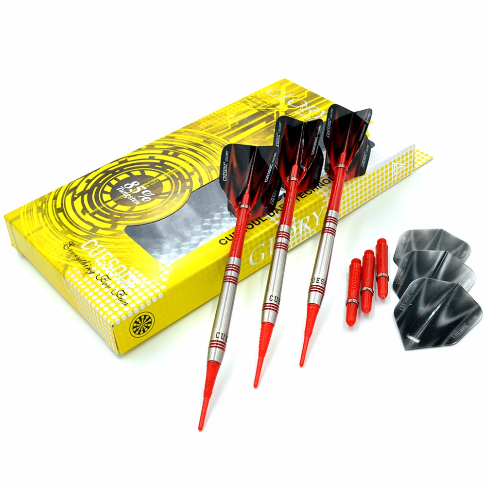 CUESOUL GLORY 85% Tungsten 16g Soft Tip Dart Set With Red Soft Tips glory