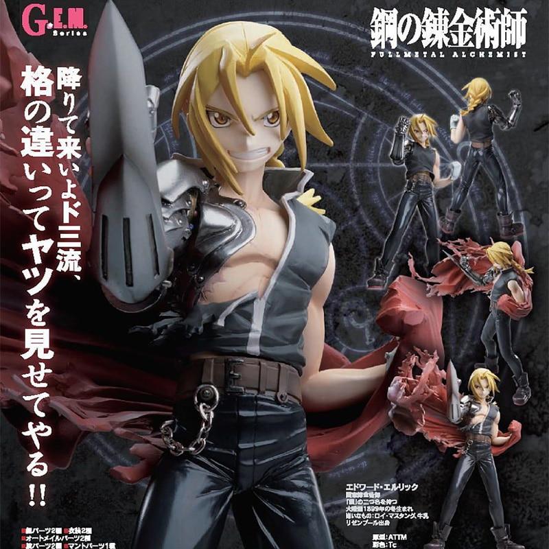 MegaHouse G.E.M. Series Fullmetal Alchemist Edward Elric PVC Action Figure Anime Figure Model Toys Collection Doll Gift