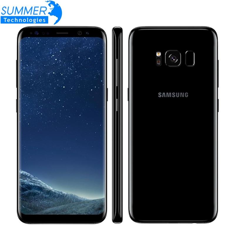 Оригинальный Samsung Galaxy S8 4 г LTE мобильный телефон Octa core 4 ГБ Оперативная память 64 ГБ Встроенная память 5.8 дюймов 12MP отпечатков пальцев Смартфон