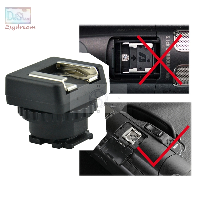 MSA-MIS Standard Hot Cold Shoe Adapter Converter For Sony Multi Interface Shoe DV  Camcorder Mount
