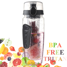 DOANTE Brand 32oz 900ml BPA Free Fruit Infuser Juice Shaker Sports Lemon Water Bottle Tour hiking Portable Climbing Camp Bottles