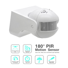 Excellent 110V~ 220V 50/60 Hz 180 Degree Outdoor IP44 Security PIR Infrared Motion Sensor Switch Movement Detector (ET039)