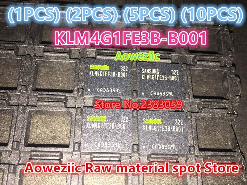 Aoweziic (1PCS) (2PCS) (5PCS) (10PCS) 100% new original   KLM4G1FE3B-B001  BGA   Memory chip   KLM4G1FE3B B001 1pcs 2pcs 5pcs 10pcs 100% new original klmdgageac b001 bga 128gb emmc tablet or mobile storage chip klmdgageac b001