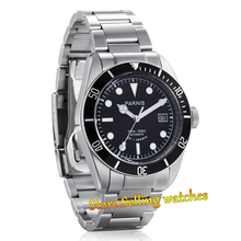 41mm Parnis Black Rotating Bezel Automatic Sapphire Men Watch Luminous Number